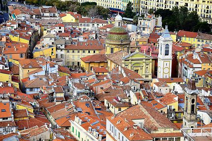 Le vieux Nice vu d'en haut