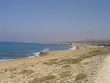 La côte ouest de Chypre