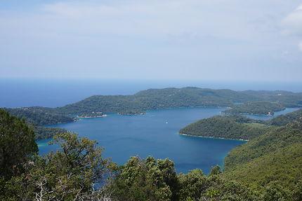 Panorama du Montokuc, Île de Mljet, Croatie