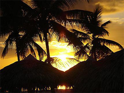 Couché de soleil à Boca Chica