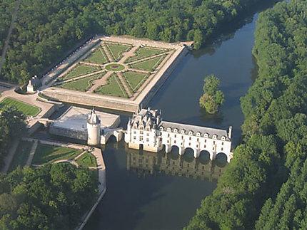 Château de Chenonceau  vu du ciel