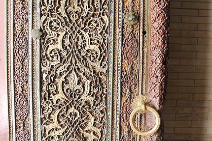 Détail de la porte d'un mausolée du Chaki-Zinda