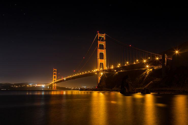 Golden Gate Bridge by night, San Francisco, par Petit Parc Autour Du Monde