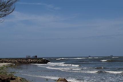 Vue de la plage à Cochin