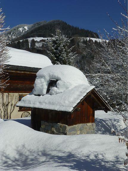 Gros tas de neige