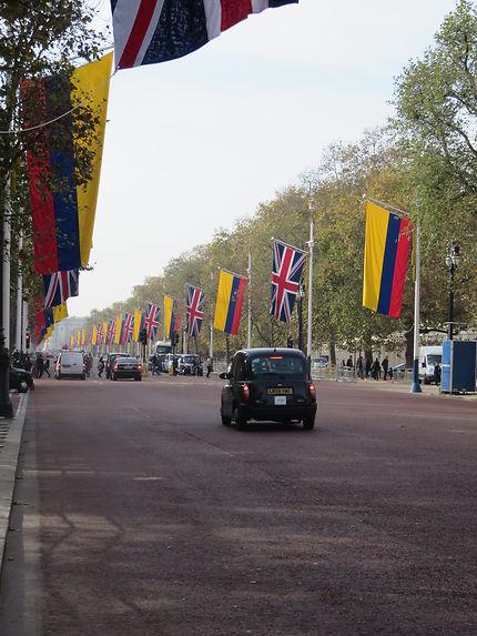 Visite d'Etat dans les rues de Londres