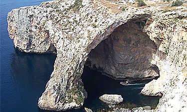 Grotte bleue (île de Malte)