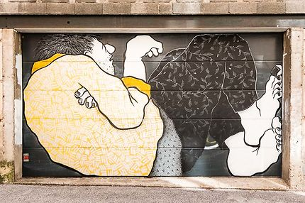 St-Etienne - Street art d'Ella & Pitr