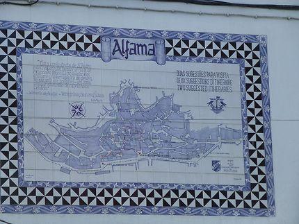 Plan de l'Alfama, Lisbonne