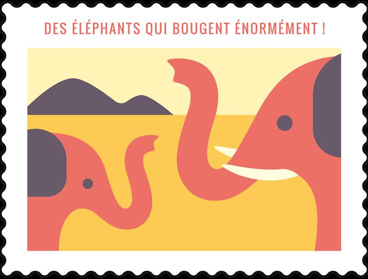 Des éléphants qui bougent énormément !