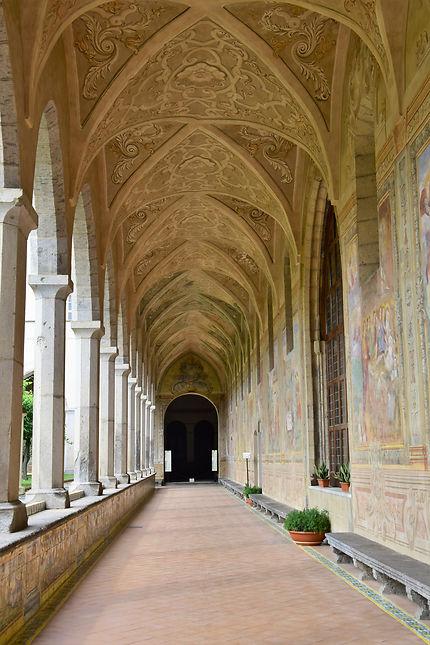 Le cloître de Santa Chiara, Naples