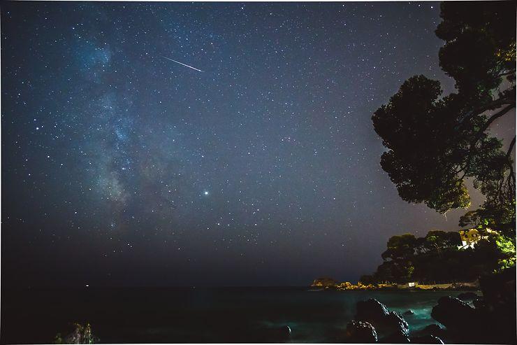 Etoile filante sous le ciel de Bandol, Côte d'Azur