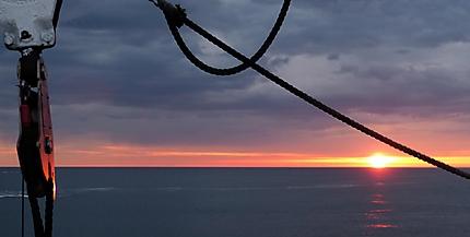 Sunset à bord du MS vesteralen