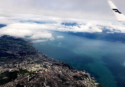 Lausanne vue du ciel