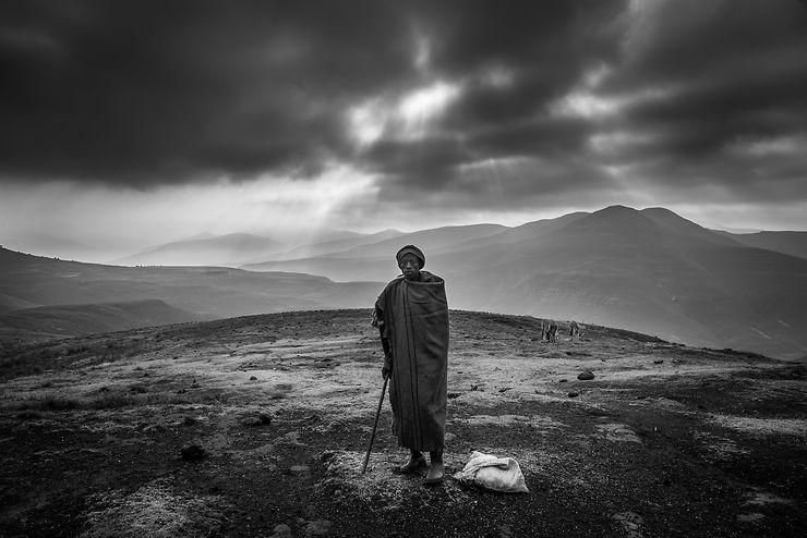 Berger au Katse Dam, Lesotho, par Damione