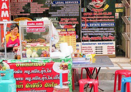 Gastronomie colorée à Pattaya