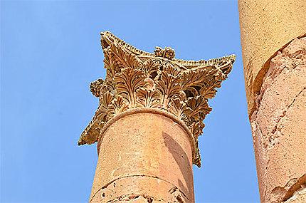 Temple d'Artémis, détail d'un chapiteau
