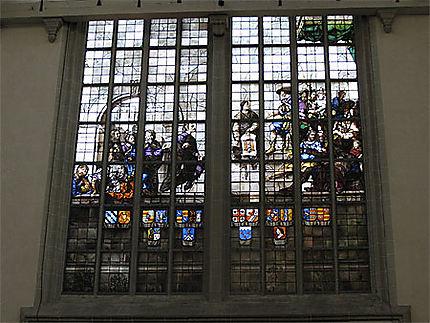 Détail d'un vitrail de la Nieuwe Kerk