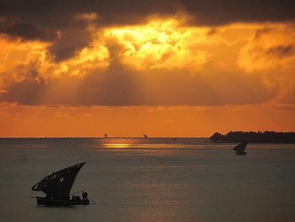 Coucher de soleil à Mocimboa da Praia