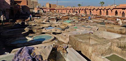 Marrakech - L'une des tanneries en activité