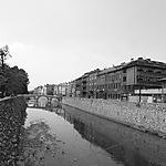 Les rives de la Miljacka