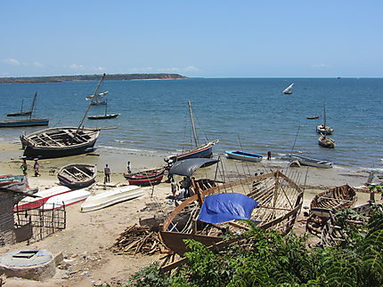 Chantier naval à Mocimboa da Praia
