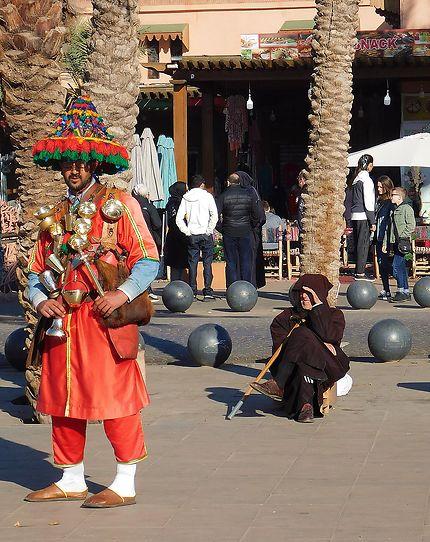 Marrakech - Le porteur d'eau ou guerrab