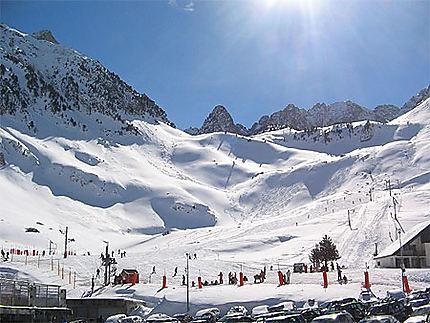 Les skieurs au Pic du Midi