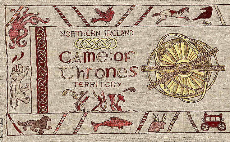 Irlande - Belfast : Game of Thrones, version tapisserie de Bayeux