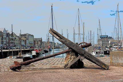 Ancre au port de Fécamp