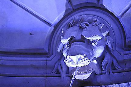Fontaine à la tête de lion