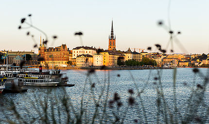 Stockholm au coucher de soleil