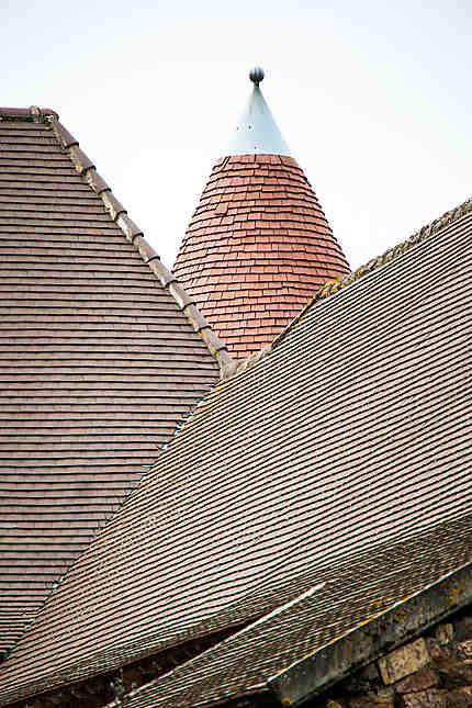 Détail toiture du château
