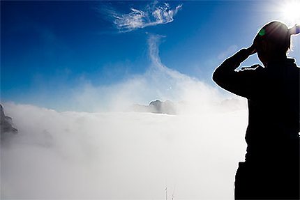 Au dessus des nuages !