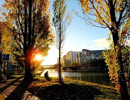 Canal de l'Ourcq en novembre