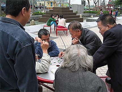 Joueurs de Mahjong