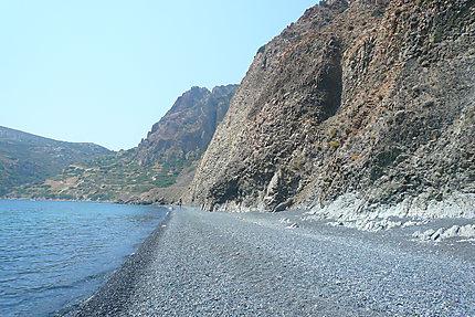 La plage de Mavra Volia