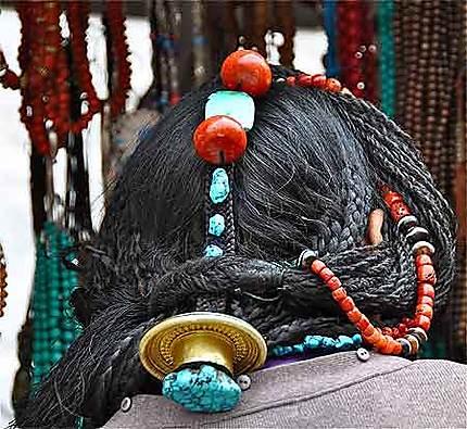 Femme Golok, Lhassa, Le Barkhor