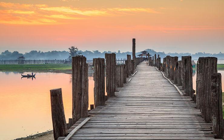 Le pont d'U Bein et les anciennes capitales birmanes
