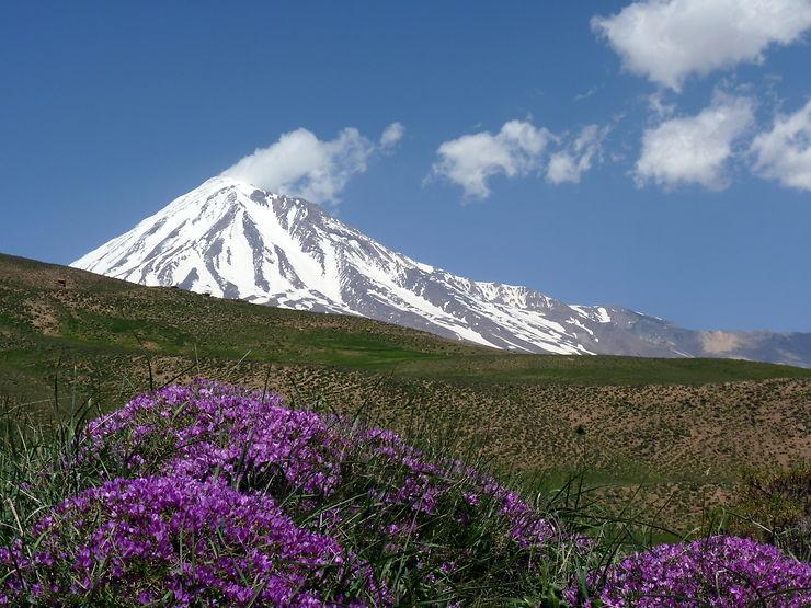 Le mont Damavand, Iran