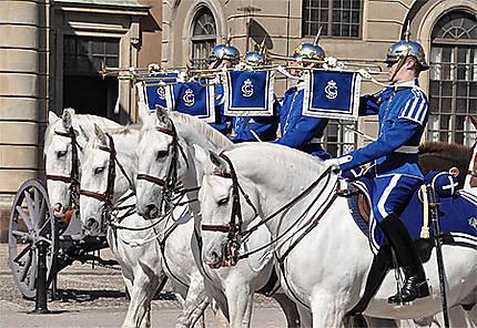 Cavaliers de la Garde au palais royal