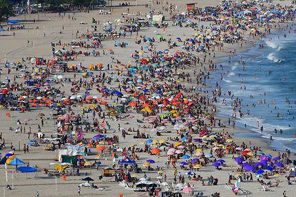 Dimanche à la plage de Copacabana