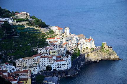 Vue aérienne d'Amalfi
