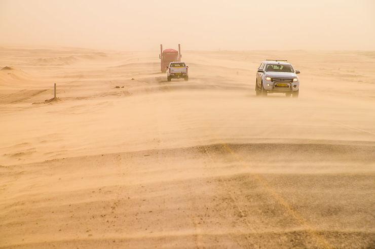 Tempête de sable, Walvis Bay