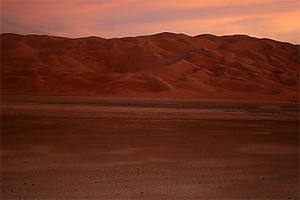 Fin d'après-midi sur le désert de Liwa