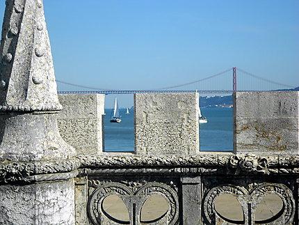 En haut de la Torre de Belém