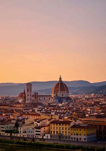 Coucher de soleil depuis la Piazzale Michelangelo