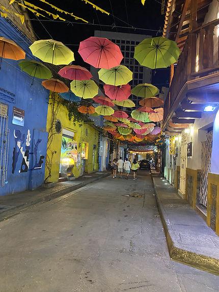 Rue de la vieille ville de Cartagena