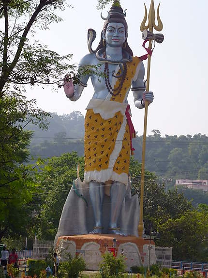 L'immense statue de Shiva à Haridwar