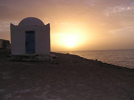 Coucher de soleil plage de Tunisie